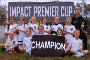 U11 girls White Cherokee Champions