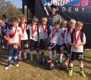 U9 Boys Black finalists at rush